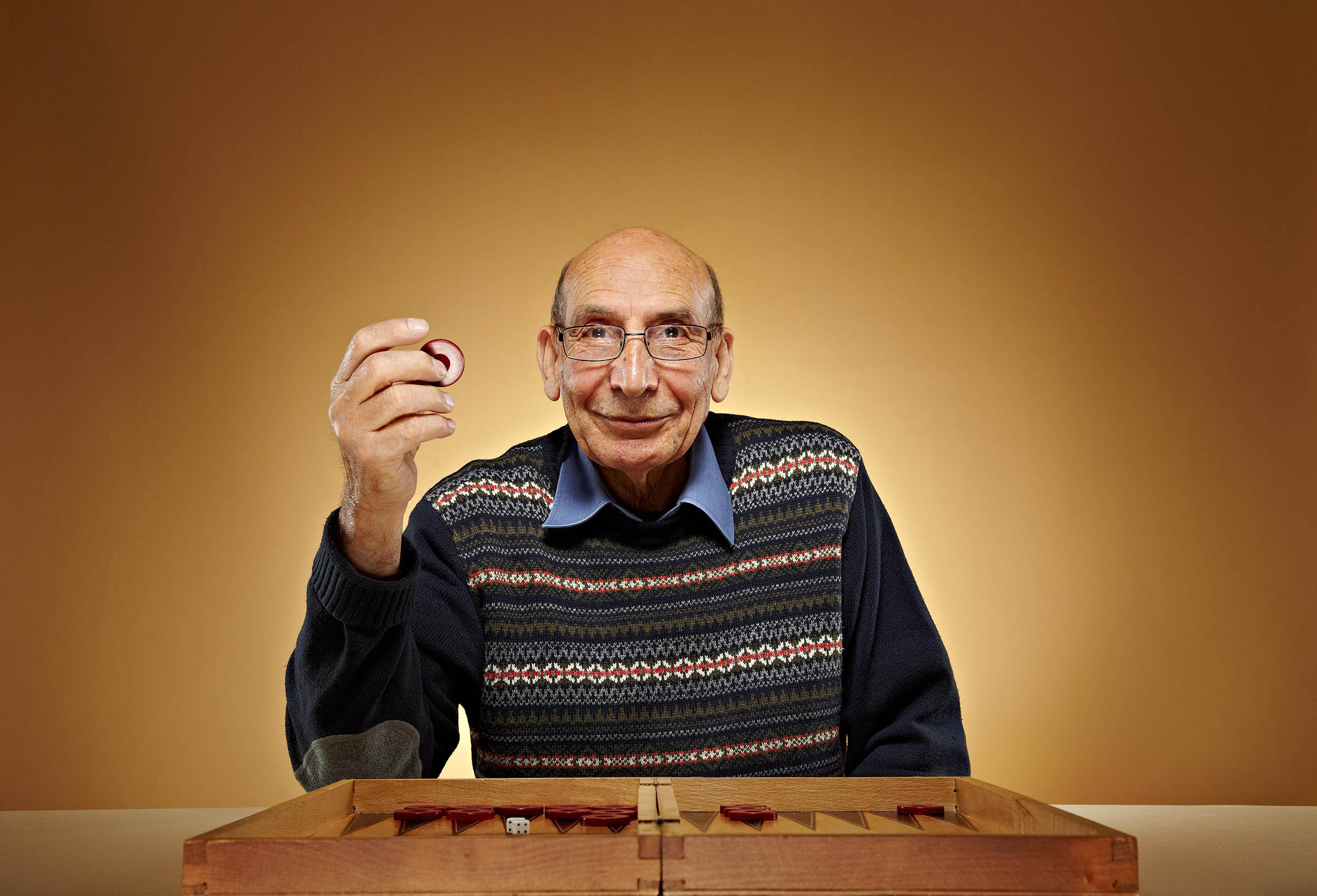 Elderly Cypriot Backgammon Players