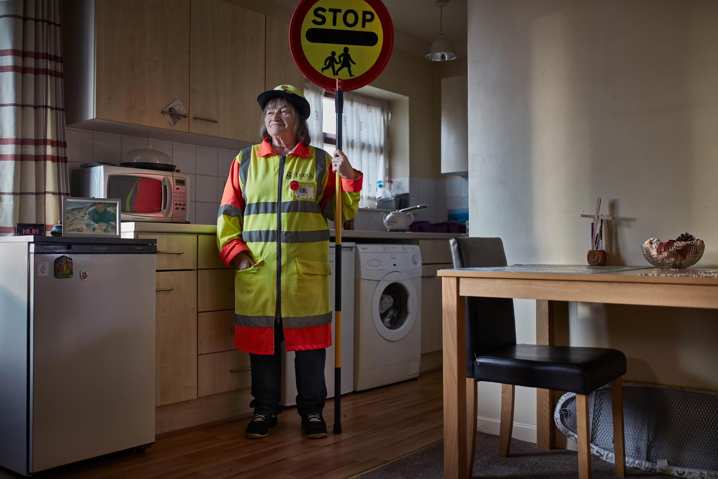 Lollipop Lady Preparing for School in the Morning