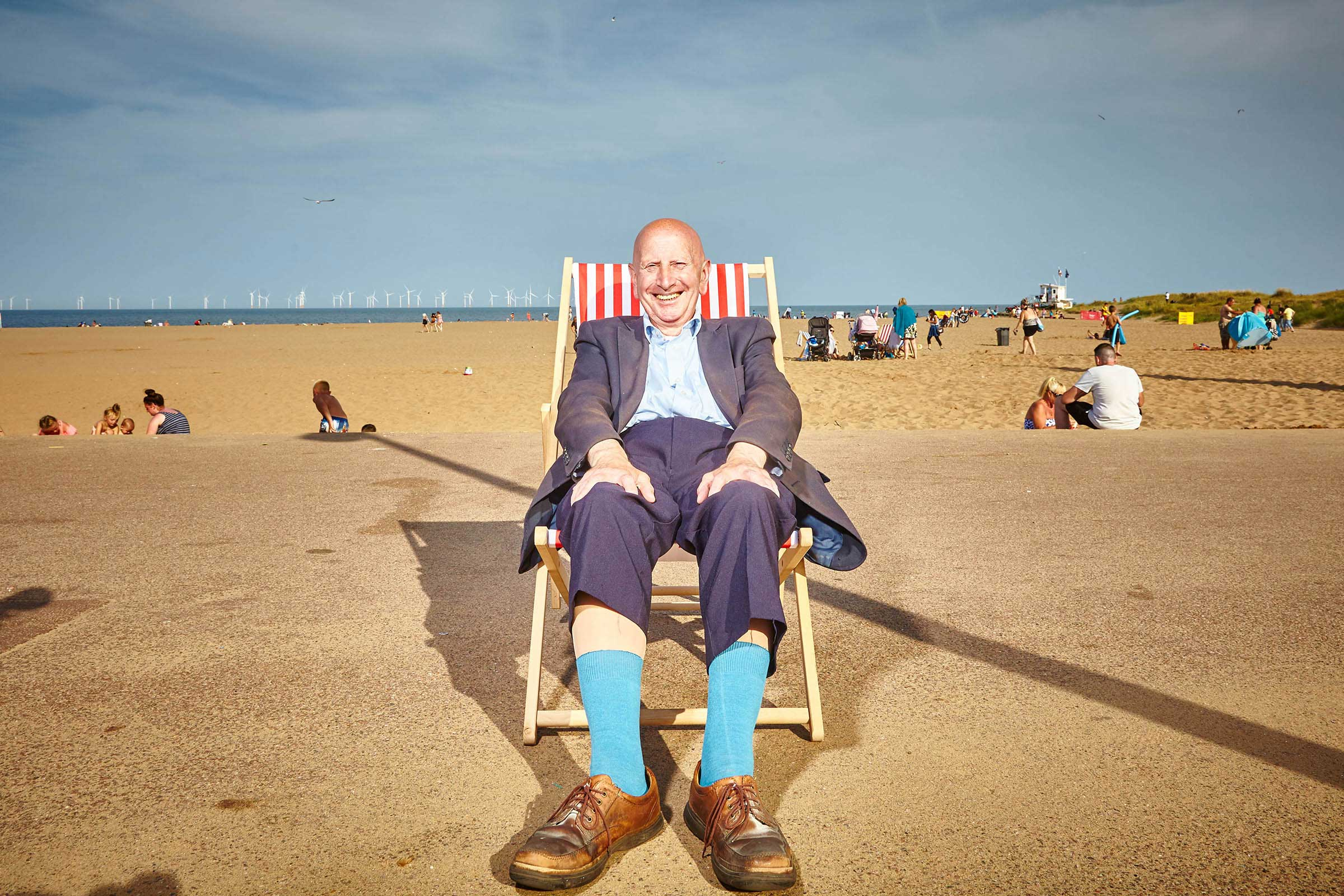 Quirky Folk on a Sunny Day at the British Seaside
